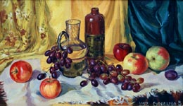 STILL LIFE WITH A DECANTER, 1997, oil on canvas