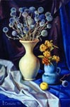 BLUE STILL LIFE, 1999, oil on canvas, 60x40 cm